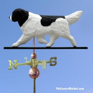 Weathervanes: Newfoundland Dog Weathervane for Roof and Garden Decor. Weathervane made in USA. Gifts for Dog Lovers. Michael Park Woodcarver.