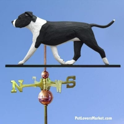 Weathervanes: Pit Bull Dog Weathervane for Roof and Garden Decor. Weathervane made in USA. Gifts for Dog Lovers. American Staffordshire Terrier.