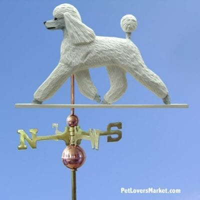 Weathervanes: Poodle Dog Weathervane for Roof and Garden Decor. Weathervane made in USA. Gifts for Dog Lovers. Michael Park Woodcarver.