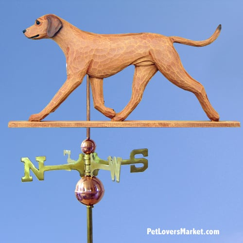 Weathervanes: Rhodesian Ridgeback Dog Weathervane for Roof and Garden Decor. Weathervane made in USA. Gifts for Dog Lovers. Michael Park Woodcarver.