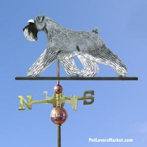 Weathervanes: Schnauzer Dog Weathervane for Roof and Garden Decor. Weathervane made in USA. Gifts for Dog Lovers. Michael Park Woodcarver.
