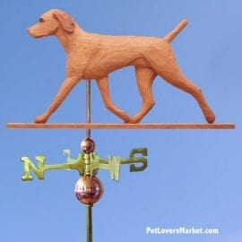 Weathervanes: Vizsla Dog Weathervane for Roof and Garden Decor. Weathervane made in USA. Gifts for Dog Lovers. Michael Park Woodcarver.