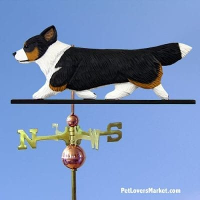 Weathervanes: Welsh Corgi Cardigan Dog Weathervane for Roof and Garden Decor. Weathervane made in USA. Gifts for Dog Lovers. Michael Park Woodcarver.