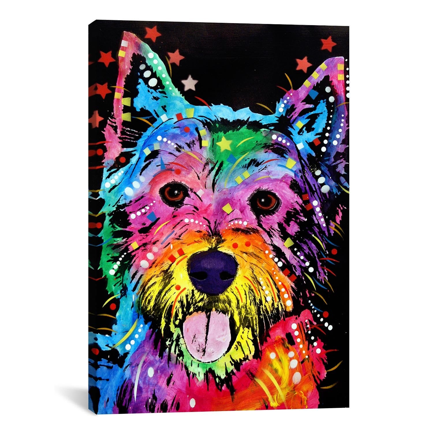 West Highland Terrier (Westie) - Dean Russo Art. Dog Signs of Dog Breeds. Dog Prints on Wood. Gifts for Dog Lovers.