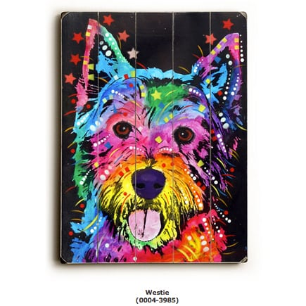 Do you love the Westie dog breed? So do we! Westies are wonderful dogs. Our pet store offers home decor and garden decor featuring the Westie dog breed.