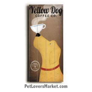 Yellow Dog Coffee Co: Vintage Coffee Ads with Vintage Dogs. Vintage sign, vintage art, vintage ads, dog art.