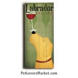 Labrador Cellars: Vintage Wine Ads with Vintage Dogs.